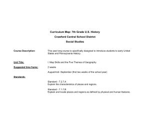 Curriculum Map - Crawford Central School District