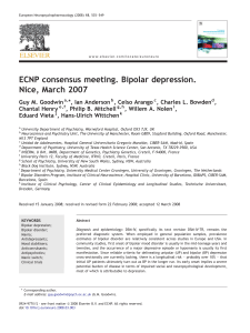 Consensus paper on bipolar depression