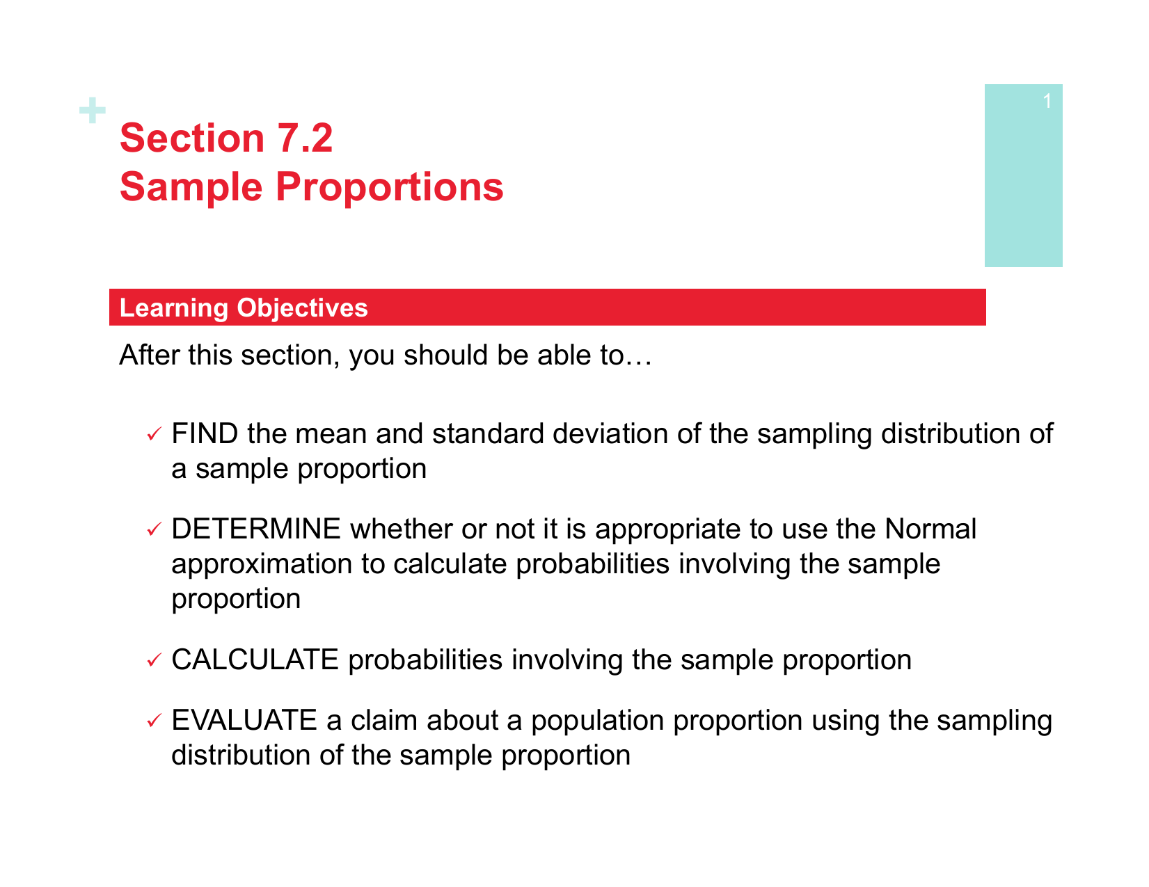 Section 7 2 Sample Proportions