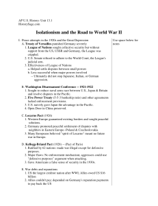 Isolationism and the Road to World War II