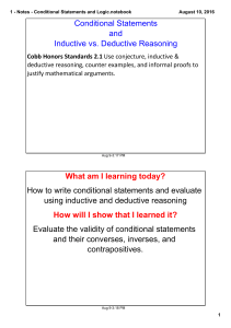 Notes - Conditional Statements and Logic.notebook