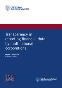(Chair) Transparency in reporting financial data by multinational