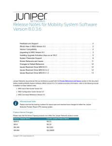 Mobility System Software Release Notes 8.0.3.6