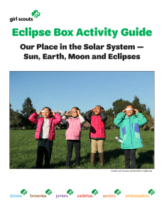 Eclipse Box Activity Guide - Girl Scouts of Northern California