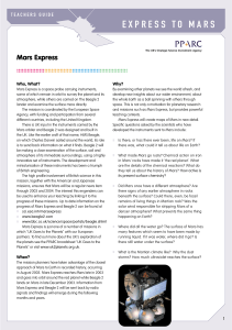express to mars - School Science