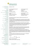 letter - American Academy of Neurology