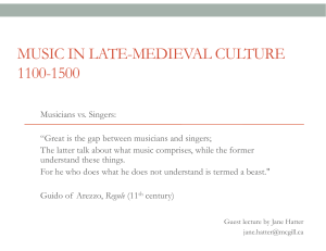 MUSIC IN LATE-MEDIEVAL CULTURE 1100-1500