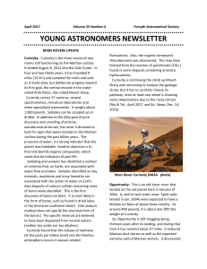 young astronomers newsletter - Forsyth Astronomical Society