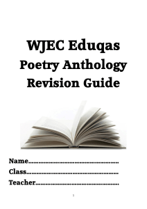 Poetry Anthology Revision Guide - Cardinal Newman Catholic School