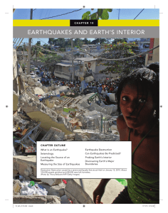 earthquakes and earth`s interior
