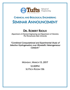 View flyer - Tufts University School of Engineering