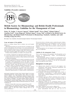 British Society for Rheumatology and British