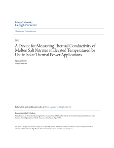 A Device for Measuring Thermal Conductivity of Molten Salt Nitrates