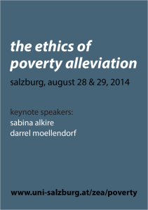 the ethics of poverty alleviation