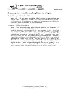 Rethinking Innovation: Characterizing Dimensions of Impact