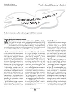 Quantitative Easing and the Fed: Ghost Story II