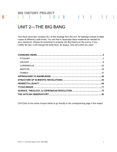 UNIT 2—THE BIG BANG