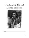 The Roaring 20`s and Great Depression