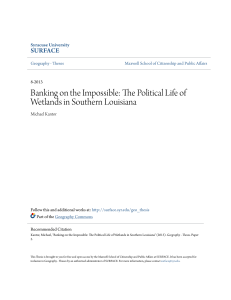 The Political Life of Wetlands in Southern Louisiana
