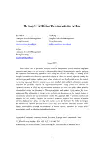 The Long-Term Effects of Christian Activities in