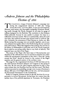 ^Andrew Johnson and the Philadelphia Election of 1866