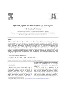 Quantum, cyclic, and particle