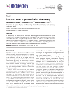 Introduction to super-resolution microscopy