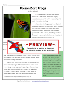 Poison Dart Frogs - superteacherworksheets.com