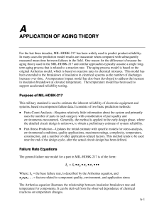 APPLICATION OF AGING THEORY
