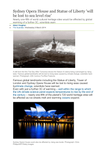 Sydney Opera House and Statue of Liberty `will be lost to sea