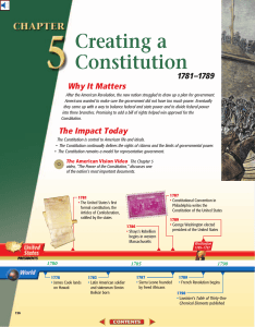 Chapter 5: Creating a Constitution, 1781-1789