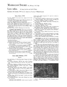 :MAMMALIAN SPECIES No. 563, pp. 1