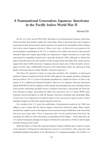 A Transnational Generation: Japanese Americans in the Pacific