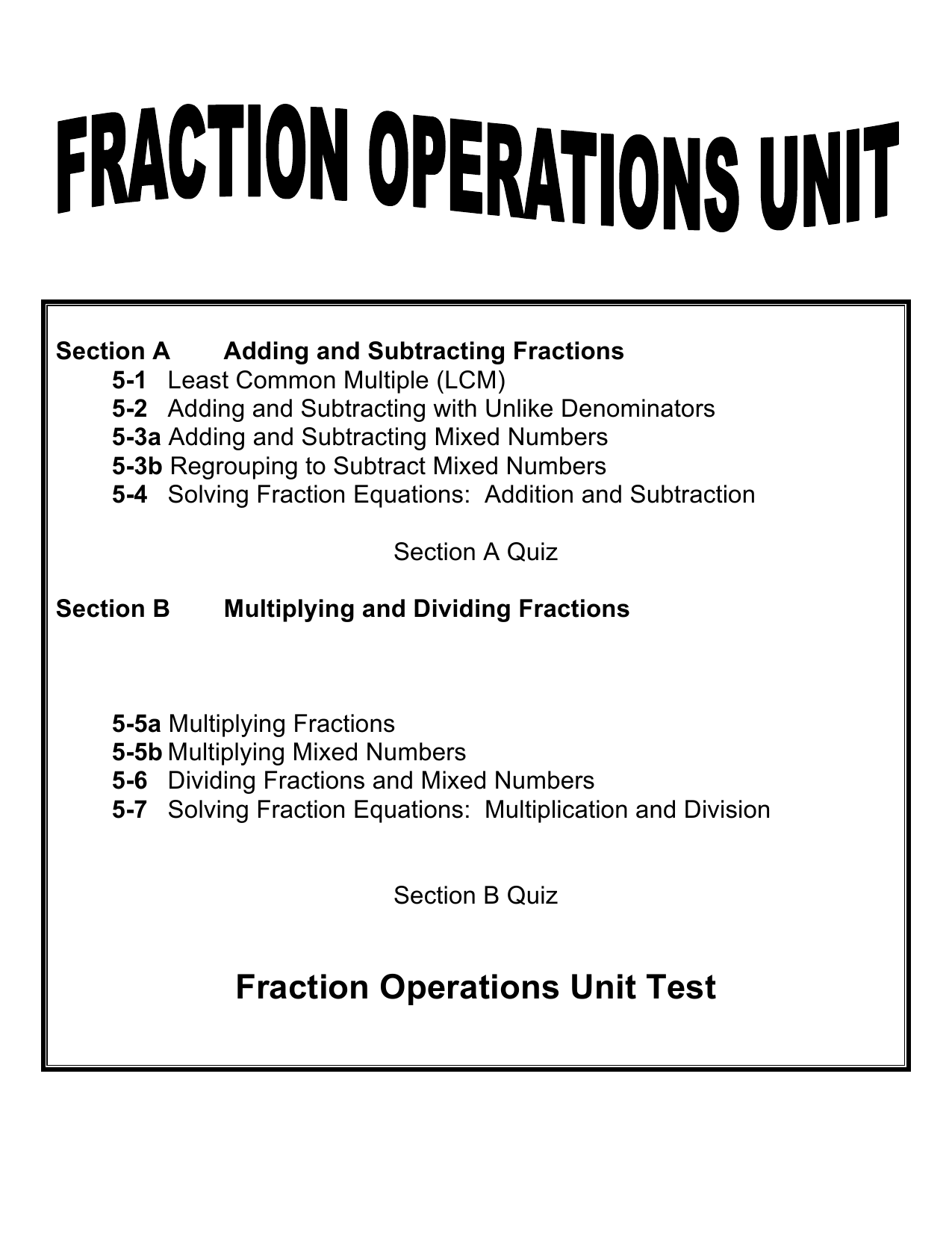 solving fraction equations multiplication and division