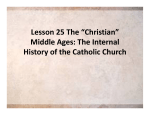Middle Ages: The Internal History of the Catholic Church