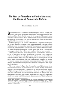 The War on Terrorism in Central Asia and the Cause of Democratic