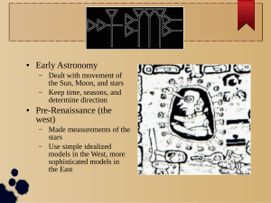 Early Astronomy Pre-Renaissance (the west)