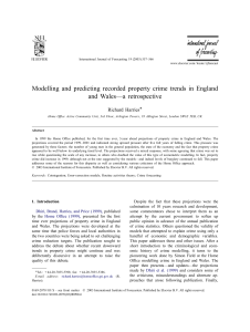 "Harries, R., ""Modelling and predicting recorded property crime"