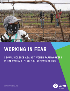 Working in Fear, Sexual Violence Against Women Farmworkers in