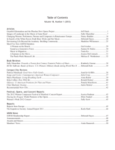 Table of Contents - Brandeis University