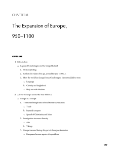 The Expansion of Europe, 950–1100