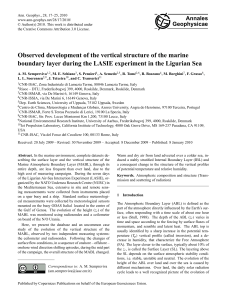 Observed development of the vertical structure of the marine