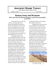 Roman Army and Weapons