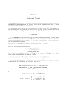 Lecture 1: Elements of Mathematical Logic