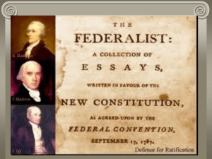Federalists vs. Anti-federalists