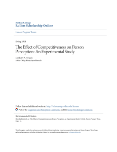 The Effect of Competitiveness on Person Perception