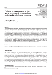 Peripheral accumulation in the world economy: A cross
