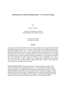 Identifying Government Spending Shocks: It`s All in the