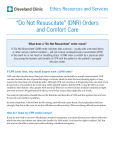 """Do Not Resuscitate"" (DNR) Orders and Comfort"