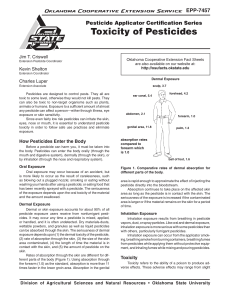 Toxicity of Pesticides - OSU Fact Sheets